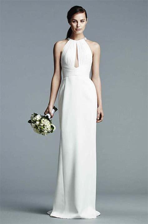 simple halter wedding dress  older brides