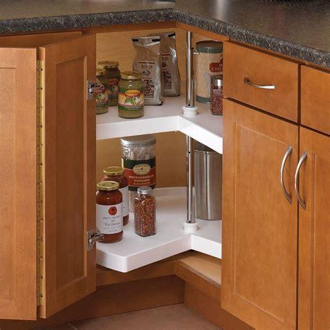 lazy susan organizer for kitchen cabinets knape vogt 32 in h x 28 in w x 28 in d 2 shelf kidney