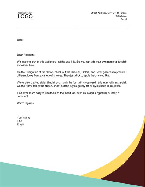 microsoft office letter of recommendation template images template