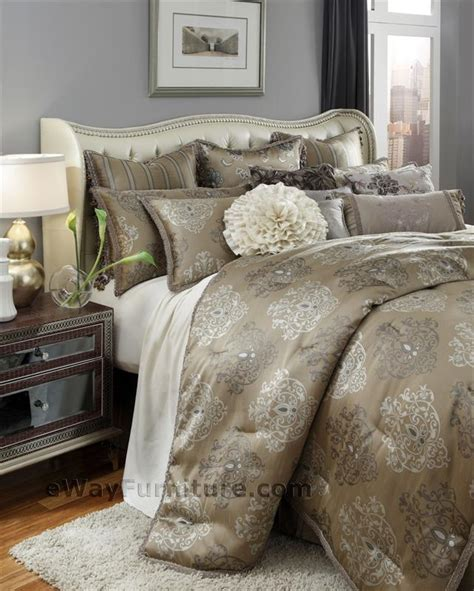 Aico Bedding Sets Solitaire Bedding Set By Aico