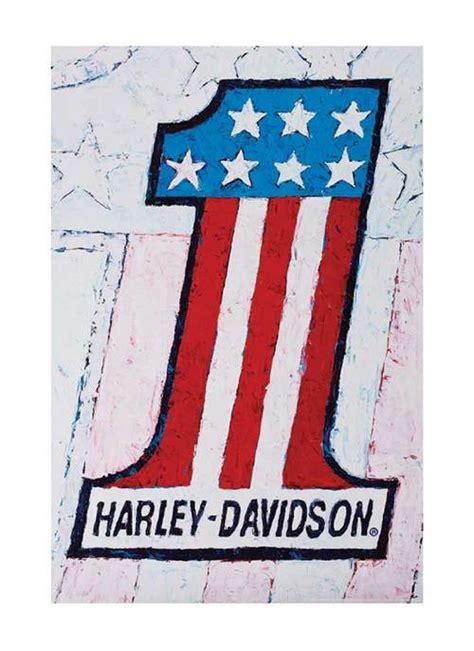 Poster Harley Davidson 1 harley davidson 174 number 1 poster vintage 1 american flag