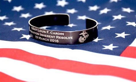 usmc kia bracelets memorial bracelet honor the fallen pow