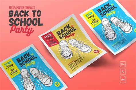 Free Back To School Bash Flyer Templates 187 Designtube Creative Design Content Back To School Bash Flyer Template Free