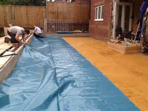 Build Your House by Damp Proof Membrane On Sand Blinding Ben Hand Builder