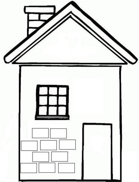 imagenes para pintar la casa dibujos de casas con chimenea para colorear