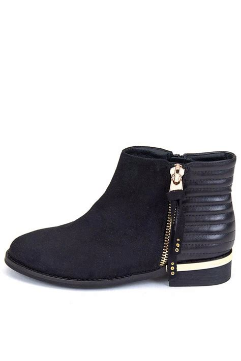 gc shoes black flat bootie from new york city by via