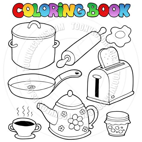 coloring page of a kitchen coloring pages kitchen utensils coloring pages printable