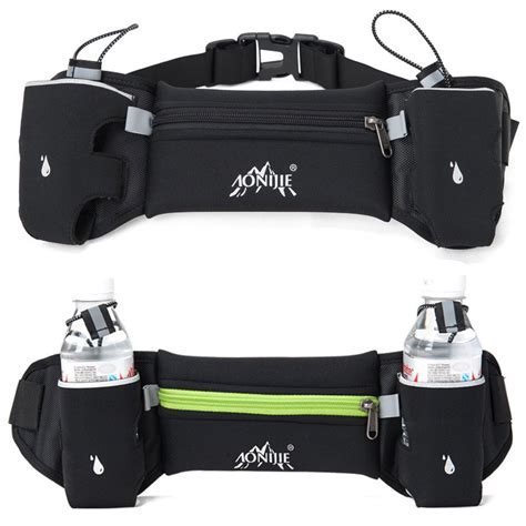 Mhh135 Sporty Running Belt outdoor sports running belt bag with 2 water bottle holder for iphone 6s plus mobile phone