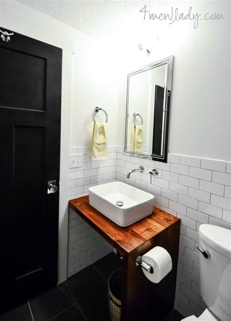 Waterfall Bathroom Vanity Bathroom Vanity Made From Wood Counter With Waterfall Edge And No Cabinet 4men1lady Diy