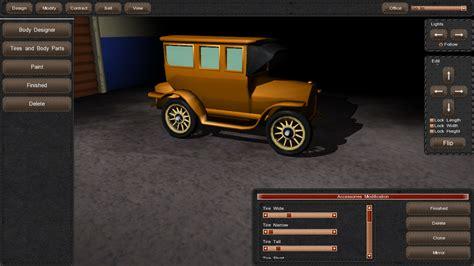 design vehicle game 1900s car designer image gearcity indie db