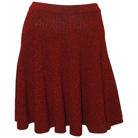 knit skirts with elastic waist mcqueen and black wool cable knit flare