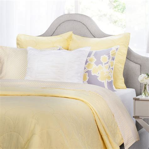 yellow quilts and comforters yellow scalloped quilt crane canopy