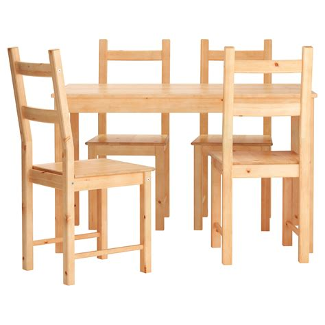 ingo ivar table and 4 chairs pine 120 cm ikea