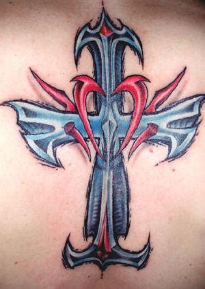 abstract cross tattoo for your side abstract designs