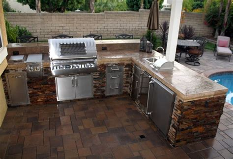 Outdoor L Shaped by Fascinating Outdoor Kitchen For Backyard Landscape With L