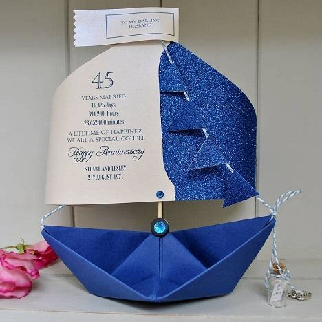 9 Beautiful 45th Wedding Anniversary Gift Ideas   Styles