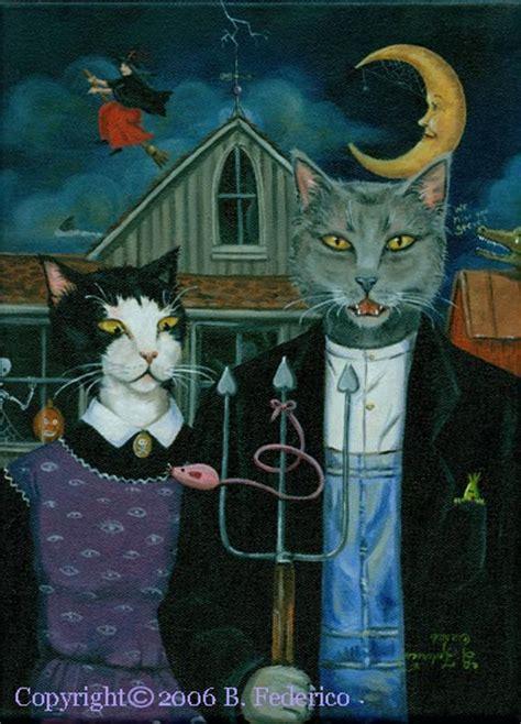 Art Parody | federico fantasy art original cat parody paintings by