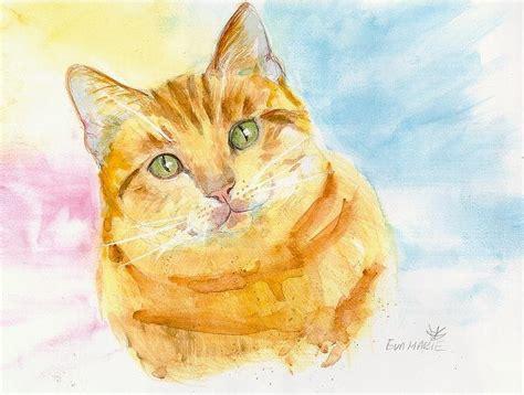 Diskon Maries Orange Cat Acrylic marmalade cat painting by klaas