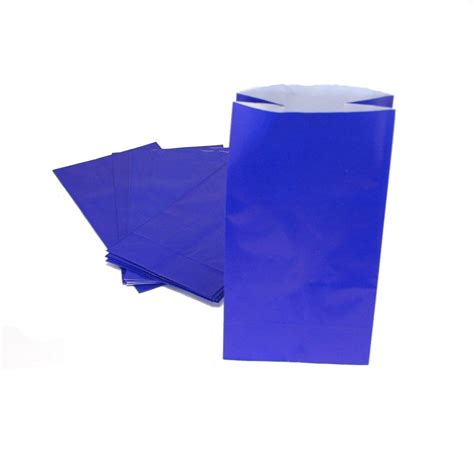 treat bag blue paper treat bags