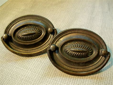 antique drawer pulls handles vintage hardware drawer pulls antique brass patina nice