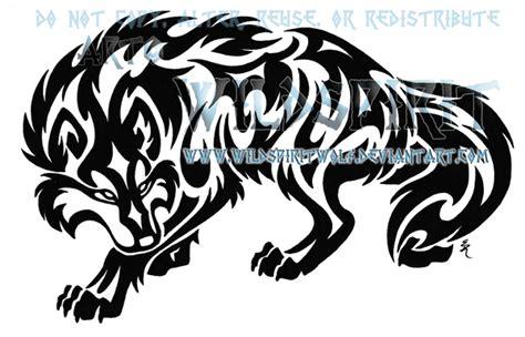 tribal pattern wolf tribal sleeping wolf and moon by wildspiritwolf tattoo