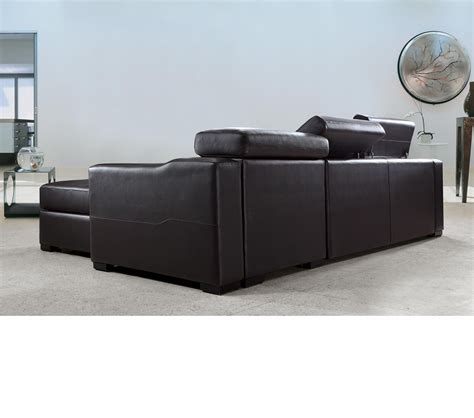 Dreamfurniture Com Flip Reversible Leather Sectional