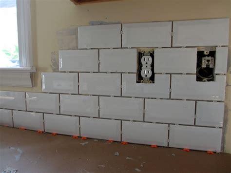Tiling Backsplash In Kitchen Tiling Backsplash Beveled Subway Tile Two Delighted