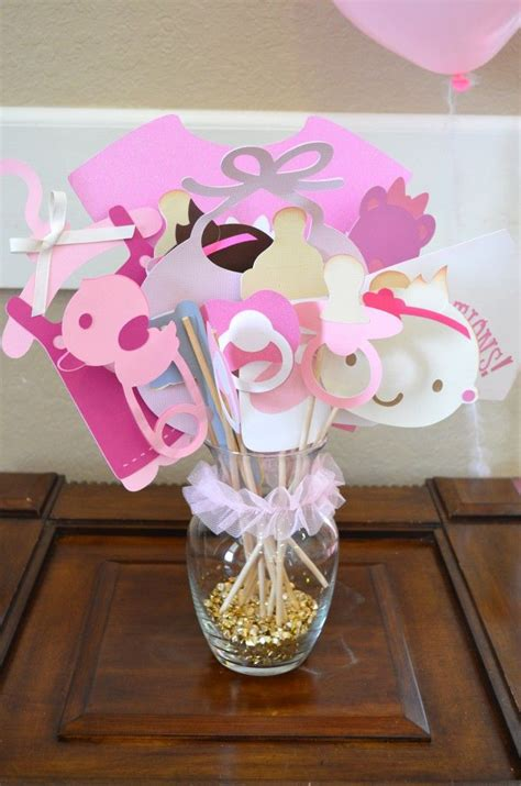 photo booth baby shower ideas diy pink gold photo booth baby shower themes photo