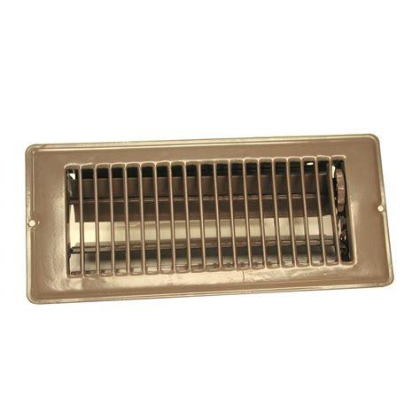 modern homes egg crate      steel floor register  brushed nickel   home depot