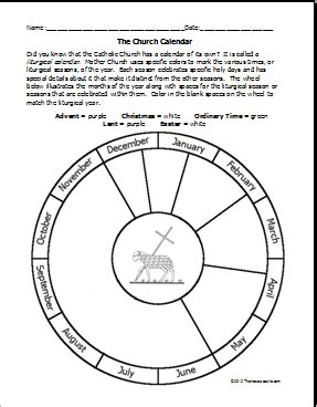 Free Printable Church Liturgical Calendar Template To Color Site Also Has Other Catholic Church Calendar Template