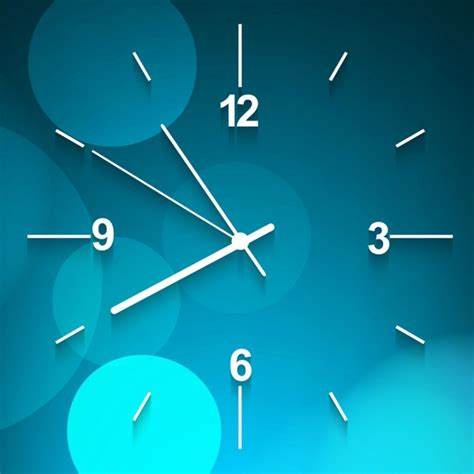 clock layout vector blue wall clock background vector free download