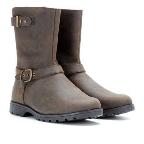brown leather biker boots grey leather ugg boots