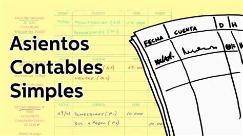 libro diario 9 sueldos y ajustes youtube asientos contables simples contabilidad educatina