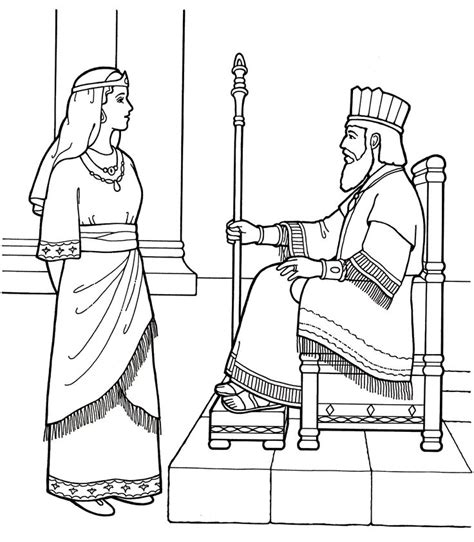 coloring pages esther queen bible an lds primary coloring page from lds org queen esther