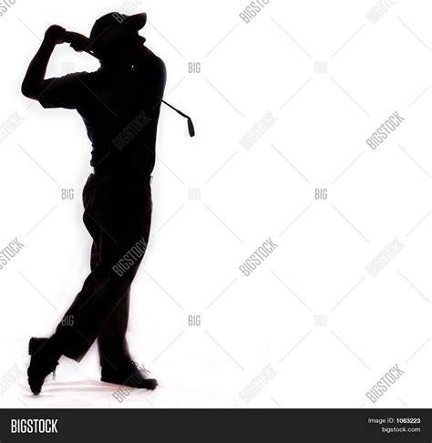 golf swing silhouette isolated silhouette golf swing image photo bigstock