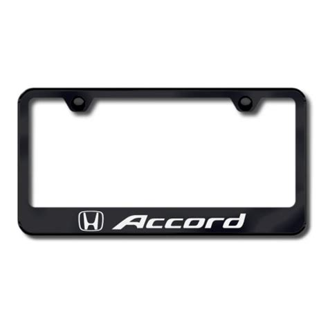 honda accord license plate frame personalized accord laser etched license plate frame