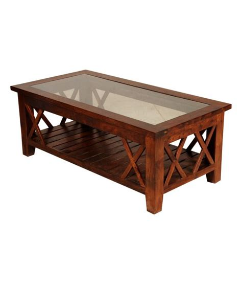 Sheesham Coffee Tables Sheesham Wood Coffee Table With Glass Top Buy At Best Price In India On Snapdeal