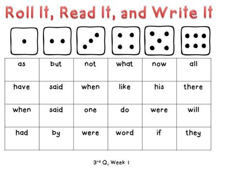 Frequency Card Templates by 17 Best Images About Phonics High Frequency Words On