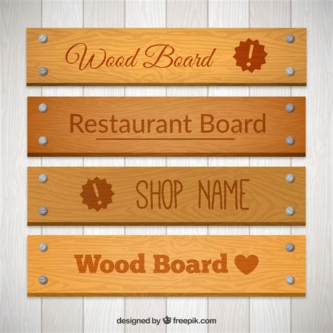 vector board layout wood boards pack vector premium download