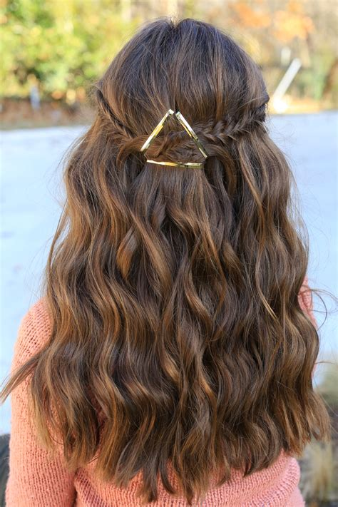 hairstyles for hair barrette tieback hairstyles
