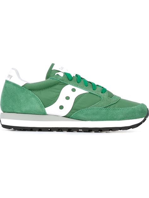 saucony sneakers mens saucony panelled sneakers in green for lyst