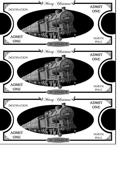 polar express ticket printable template will play polar express tickets printables