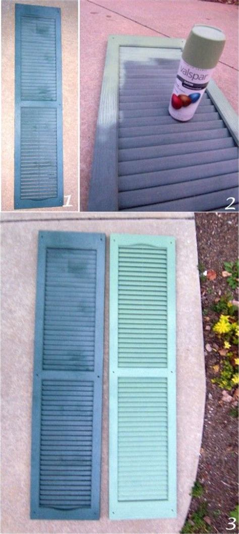 spray painting shutters yea i dont the color of our shudders so spray