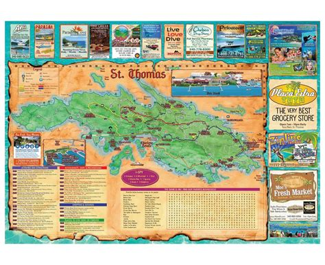 map of st island maps of us islands detailed map of united states