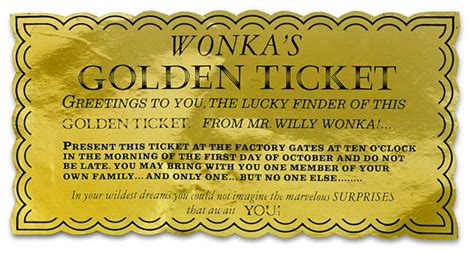 charlie and the chocolate factory s golden ticket is up