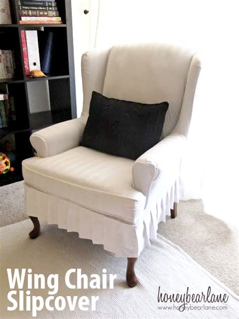 making a couch slipcover my wing chair slipcover reveal