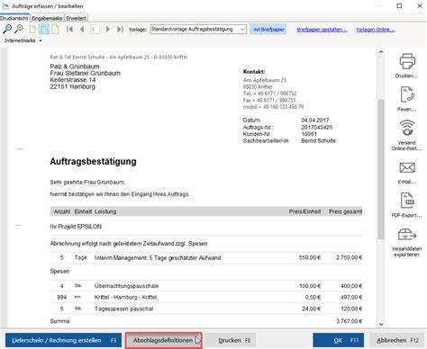 Muster Rechnung Teilzahlung Abschlagsrechnung Schlussrechnung So Geht S Wiso Mein B 252 Ro