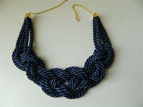 rope for jewelry navy rope necklace sailor knot necklace nautical necklace bib