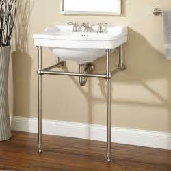 cierra console sink with brass stand bathroom