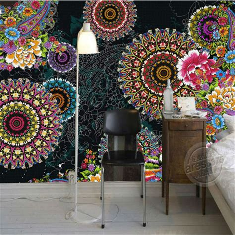 Charming Paisley Pattern Flowers Wallpaper 3D Photo